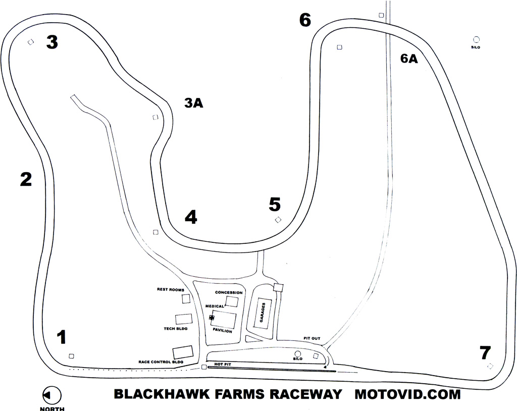 Road America Track Map images